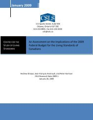 An Assessment on the Implications of the 2009 Federal Budget for ...