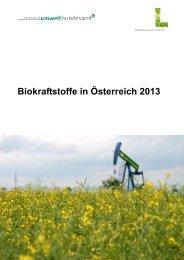Biokraftstoffe in Österreich 2013 PDF 968,48 kB - Lebensministerium