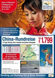 China-Rundreise - zu www.nicko-tours.de