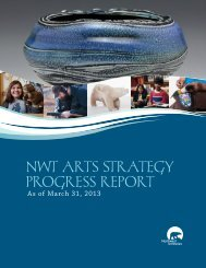 NWT ArTs sTrATegy Progress rePorT - Education, Culture and ...