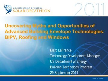 Uncovering Myths and Opportunities of Advanced ... - Solar Decathlon
