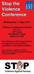 Stop the Violence Conference - Australian Nursing Federation