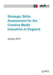 Strategic Skills Assessment for the Creative Media ... - Skillset