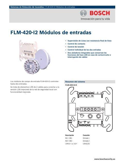 Flmâ 420â I2 Mã Dulos De Entradas Bosch Security Systems