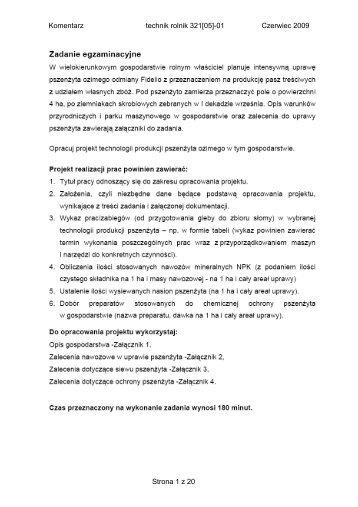 Komentarz technik rolnik 321[05]-01 Czerwiec 2009 Strona 1 z 20