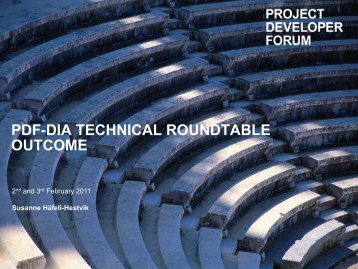 Outcome 2nd Feb - Project Developer Forum