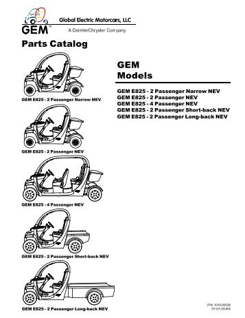2002-2004 Parts Catalog - Go Auto Electric