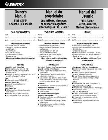Chubb Safe Manuals