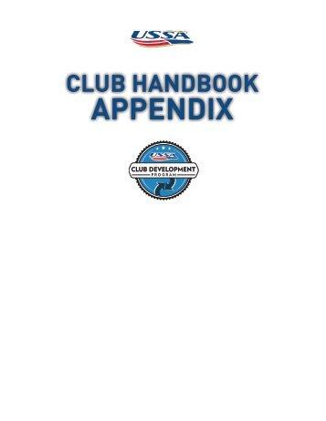club handbook appendix - USSA