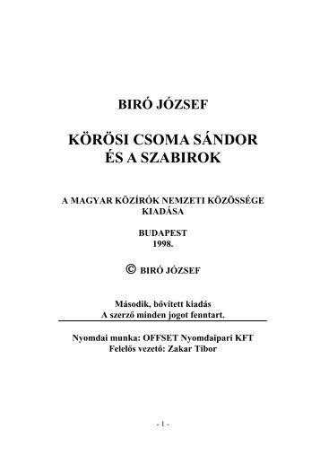 Körösi Csoma Sándor és a szabirok (pdf)