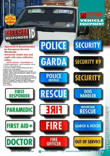 RESPONDER - Niton 999 Equipment
