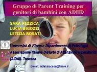 Gruppo di Parent Training per genitori di bambini con ADHD - Aidai