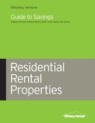 Residential Rental Property Guide to Savings - Efficiency Vermont