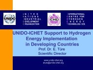 UNIDO-ICHET Support to Hydrogen Energy Implementation in ...
