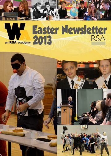 Easter Newsletter 2013 - Whitley Academy