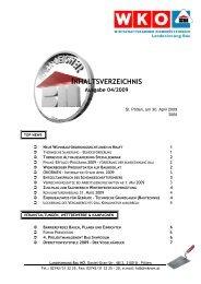 Inhaltsverzeichnis 04 - Landesinnung Bau