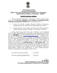 Government of India Income Tax Department Office of the Chief ...