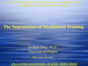 The Neuroscience of Mindfulness Training