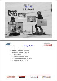 Infoabend - Regionalverband Schneesport Mittelland