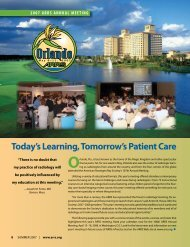 Today's Learning, Tomorrow's Patient Care - American Roentgen ...