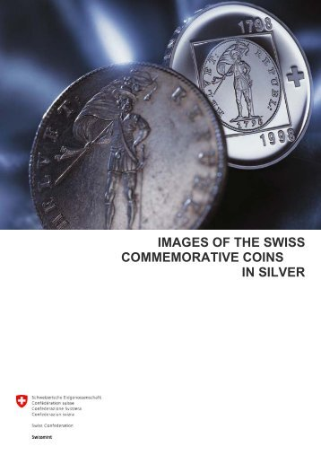 Images of the commemorative coins in silver (PDF, 1.7Mb) - Swissmint