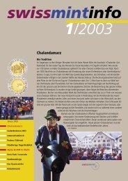 2003/1 Chalandamarz (PDF, 530Kb) - Swissmint