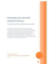 INFORME DE GESTIÓN INSTITUCIONAL - Unidades Tecnológicas ...
