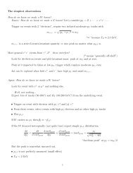 The simplest observations How do we know we made a W boson ...