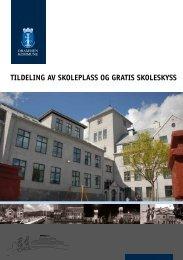 kommunal brosjyre om tildeling av skoleplass og skoleskyss