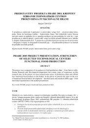 predstavitev projekta phare 2003, krepitev izbranih tehnoloških ...
