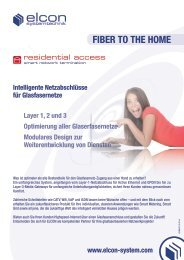 Flyer FTTH - Elcon Systemtechnik