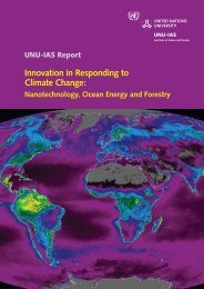 Innovation in Responding to Climate Change: - UNU-IAS - United ...