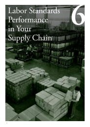 Chapter 6: Labor Standards Performance in Your Supply Chain - IFC