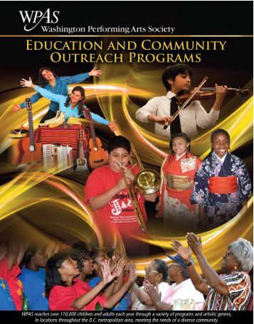 EdUcAtiON ANd COMMUNity OUtREAch PROGRAMS - Washington ...