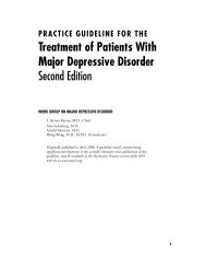 Treatment of Patients With Major Depressive Disorder Second Edition