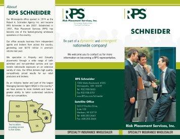 SCHNEIDER - Risk Placement Services, Inc.