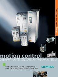 SIMOVERT MASTERDRIVES Motion Control - Siemens Industry, Inc.