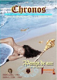 Chronos - Penița de Aur, anul I, nr. 3-4, mai-iunie 2013