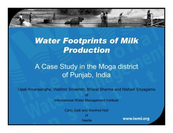 Case Water Footprints of Milk Production (Dr. Herath Manthrithilake)
