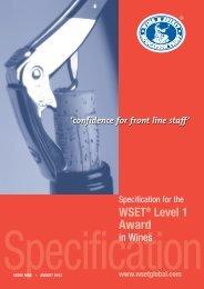 WSET® Level 1 Award