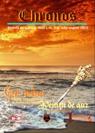Chronos - Penița de Aur, anul I, nr. 5-6, iulie-august 2013