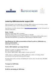 Justering ABM-dokumenter august 2009 - biblstandard