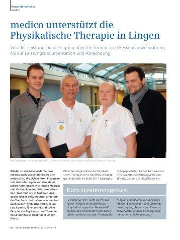 medico unterstützt die Physikalische Therapie in Lingen