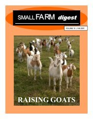 raising goats - Babcock Institute