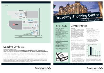 Broadway Shopping Centre - Mirvac | Retail
