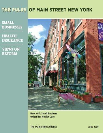 OF MAIN STREET NEW YORK THE PULSE - Main Street Alliance