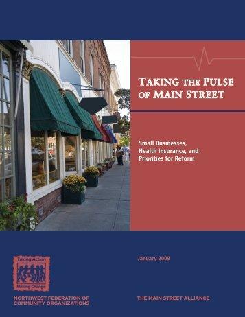 (PDF): Taking the Pulse of Main Street - Main Street Alliance