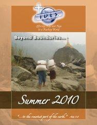 Summer 2010 Newsletter - International Disaster Emergency Service
