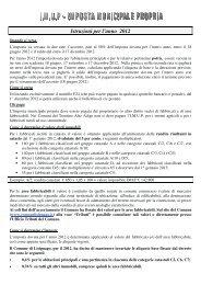 Istruzioni per l'anno 2012 - Comune di Lisignago