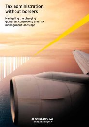 Tax administration without borders - Ernst & Young
